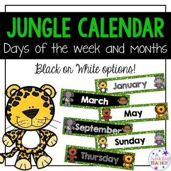 Jungle Themed Calendar Months