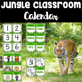 Jungle Theme Calendar Set