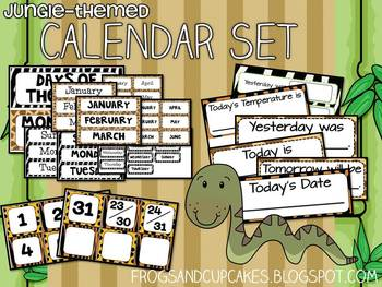 Jungle-Themed Calendar Set