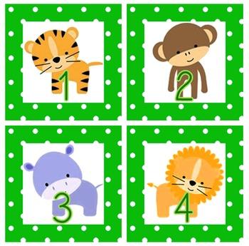 Jungle Themed Calendar Set