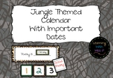 Jungle Themed Calendar with important dates