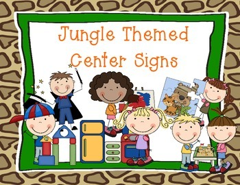 Jungle Themed Center Signs