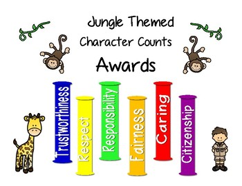 Jungle Themed Character Counts Awards
