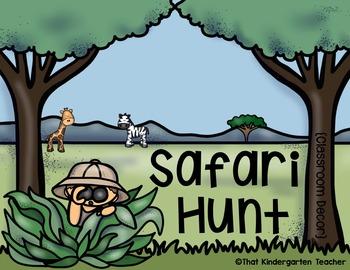 Safari Hunt {Classroom Decor}