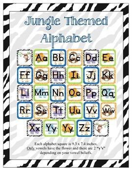 Jungle Themed Classroom ABC Printables