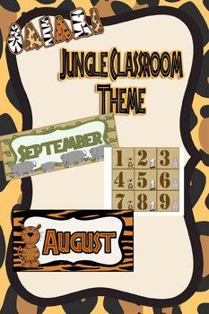 Jungle Themed Calendar