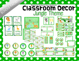Jungle Themed Classroom Decor Bundle Pack