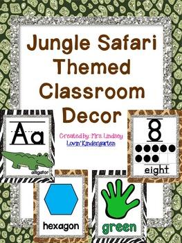 Jungle Safari Themed Classroom Decor {EDITABLE!}