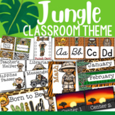 Jungle Theme: Classroom Decor and Organizational Pack