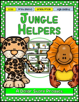 Jungle / Rainforest Themed Classroom Jobs - EDITABLE