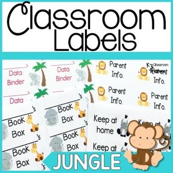Jungle Themed Classroom Labels