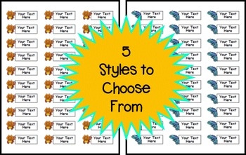 Jungle Themed Classroom Labels - EDITABLE
