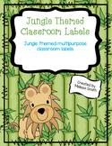 Jungle Themed Classroom Labels - Edible