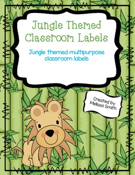 Jungle Themed Classroom Labels - Edible