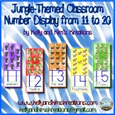 Jungle-Themed Classroom Number Display from 11 to 20