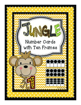 Jungle Themed Classroom Numbers with Ten Frames