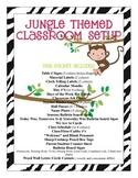 Jungle Themed Classroom Decor Bundle