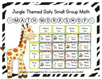 Jungle Themed Classroom Small Group Math Center/ Workshop Setup