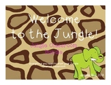 Jungle-Themed Classroom Starter Kit