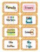 Jungle Themed Classroom Supply Tags