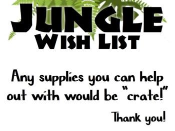 Jungle-Themed Classroom Wish List