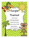 Jungle Themed Classroom Word Wall, Birthday, Classroom Jobs, Much More!