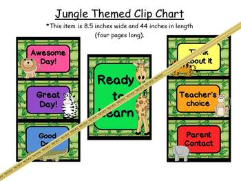 Clip Chart: Jungle Themed (color blocks)