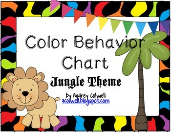Jungle Themed Color Behavior Chart
