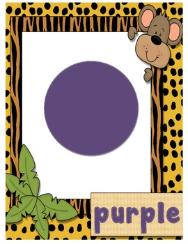 Jungle Themed Color Word Posters