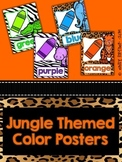Jungle Themed Color Word Posters Full and Mini Posters