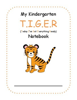 Jungle TIGER (Today I've Got Everything Ready) Notebook Cover