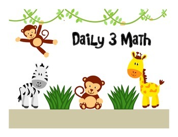 Jungle Themed Daily 3 Math