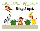 Jungle Themed Daily 3 Math