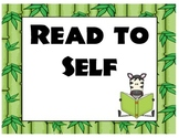 Jungle Themed Daily 5 / Reading Centers Posters Signs