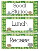Jungle Themed Daily Schedule Cards