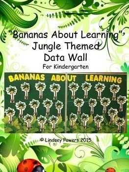 Jungle Themed Data Wall for Kindergarten