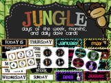 Jungle Themed Days of the Week/Month/Daily Date Cards