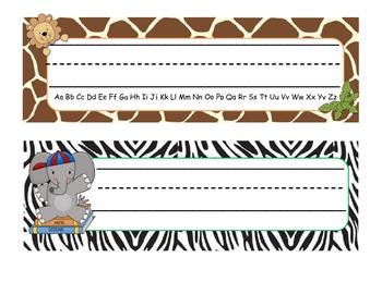 Jungle Themed Desk Tags/Name Plates