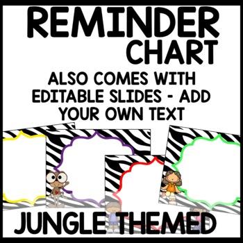 Jungle Themed Discipline Chart
