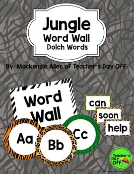 Jungle Dolch Word Wall