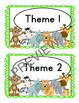 Jungle Themed First Grade Sight Word Cards (treasures)