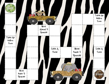 Jungle Themed Game Board