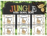 Jungle Themed Hand Signals