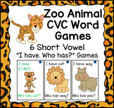 "Zoo Animal ""I have...Who has..?"" CVC Games"