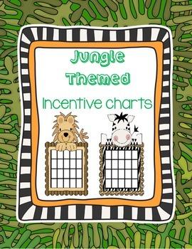 Jungle Themed Incentive Charts