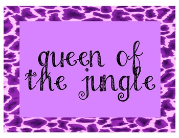 Jungle Themed Leopard Cheetah Behavior Signs