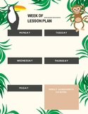 Jungle Themed Lesson Plan Page