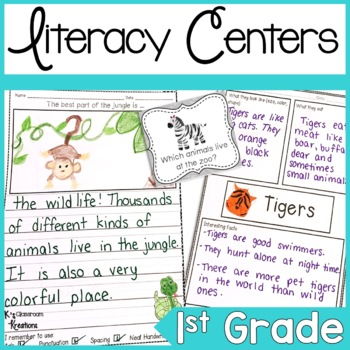 Jungle Themed Literacy Activities for K-2