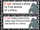 Jungle Themed Literacy I Can Statements for the Year