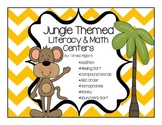 Jungle Themed Literacy and Math Centers